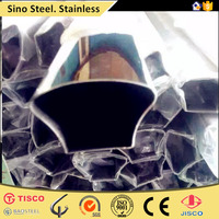 stainless steel decorative groove tube with 600 grit polished