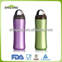 350ml double wall high grade stainless steel atlasware vacuum flask with tea filter carabiner lid