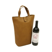 Customized leather wine bag carrier