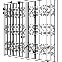 Aluminum Retractable Grille Door