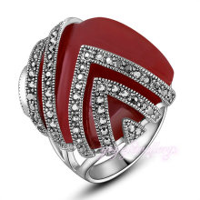 Statement square shaped gold crystal engineers iron ring sale