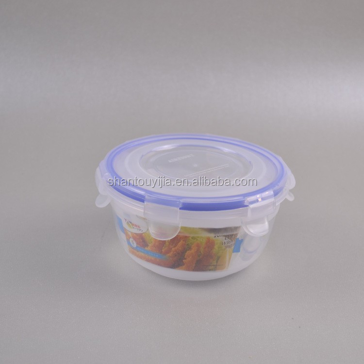 round airtight plastic container for food