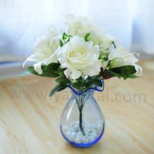 super realistic artificial silk lily rose table bouquet latex rose lily bouquet for sale