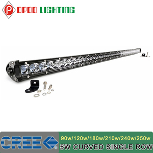 Hotsale curved offroad 90w 120w 180w 210w 240w 250w super slim led light bar