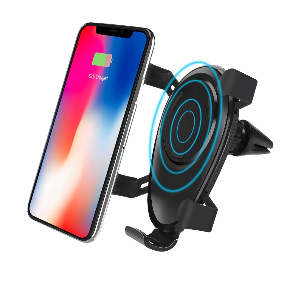 Car Wireless Fast Phone Charger Mount Air Vent Driving Cellphone Holder