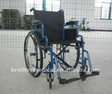 Wheelchair Steel Self Propelled Sports Blue Color with flip up armrest BME4612-003