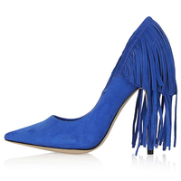 Jusity 2015 Latest Ladies Tassels Shoes Dress Pump Shoes High Heels for Kids Girl