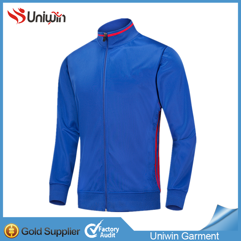 Wholesale Mens Zipper Blank Soccer Tracksuits Jacket
