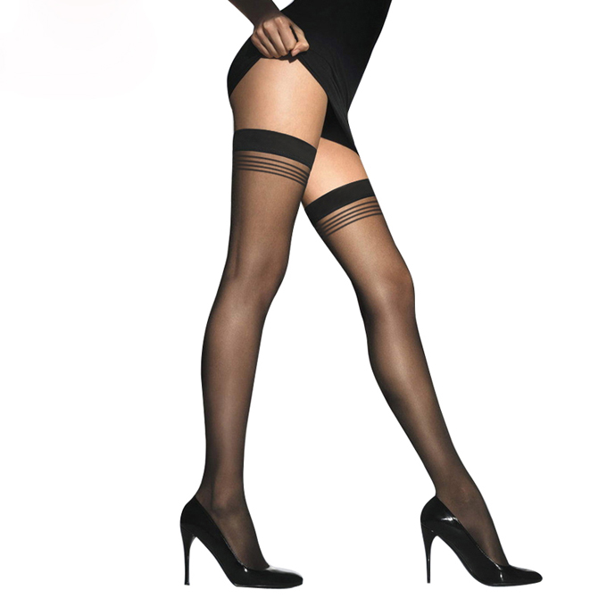 Hot selling lady young girl thin sexy japanese knee-high silk stockings tube body stocking