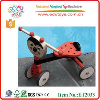 Wholesale China factory handmade lovely wooden trike for kids