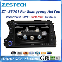 HD 800*480 touch screen car dvd for ssangyong actyon sport dvd with radio gps navigation multimedia