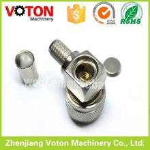 right angle hook wire cut strip crimp machine tnc connector