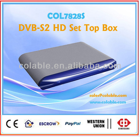 HD tv stb,dvb-s2 set top box,set top box with hdmi output COL7828S