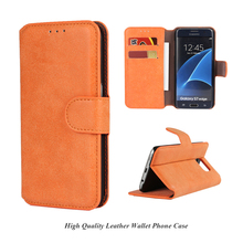 OEM Shockproof PU Leather Cell Phone Case Flip Wallet Cover for Samsung Galaxy S7 / S7 edge g935
