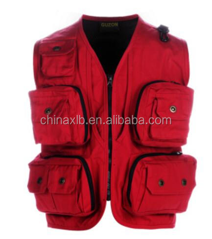 High quality breathable custom multi pocket fishing vest wholesale from china