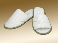 pink terry towelling hotel slipper/ disposable bath slipper
