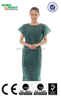 factory stock Dark blue disposable patient gown