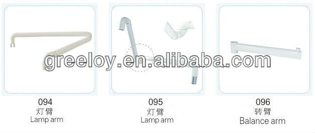 dental unit/dental light arms/steering plastic lamp arm