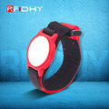 HYWNL05 Cost effective cashless fabric and woven RFID wristband for events