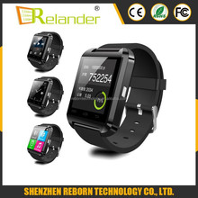 2015 1.44inch touch screen MTK6261D U8 smart watch with camera and TF card slot