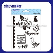 silicone rubber decorative clear stamp