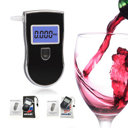 Fashion Item and Promotional Gift Portable Alcohol Detector / Dual Digital Alcohol Breath Analyzer with Blue Backcup