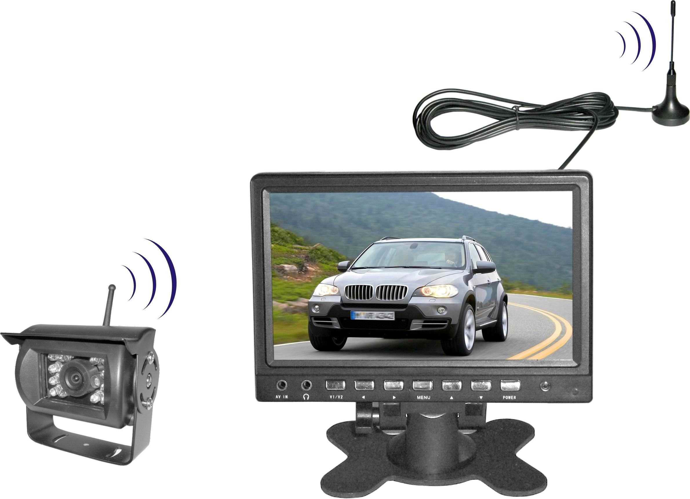 Car rear view security camera system