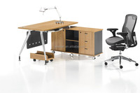 Direct supplier modern office table /stainless steel computer desk