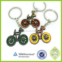Cheap quality wholesale metal brand flat fiat car logo keychain