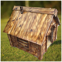 Outdoor Dog Kennel House Durable Pet Shelter All Weather Bed Home Puppy Wood