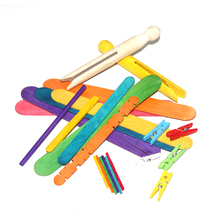 Mathematics Wood Mini Jumbo Craft Sticks For Counting Education Toy