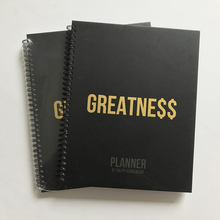 Spiral Dairy Customized A4 Custom Logo Spiral Bound Cheap Student Planners