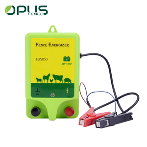 Green ABS high voltage security solar electric fence energizer for cattle