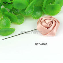 Pink fabric flower lapel pin for men suits