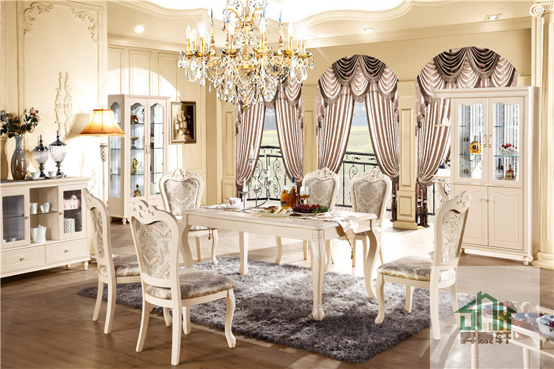 White Wood Plank Dining Table HC-601# Monaco Dining Table Designs Chinese Long Dining Table