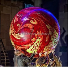 custom inflatable fully printed sphere for theatre performance, inflatable helium balloon