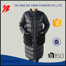 2017 women long style large pocket winter thick down jacket