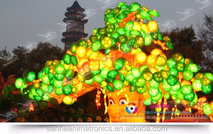 Outdoor led illumination custom talking artificial plants trees of festival products