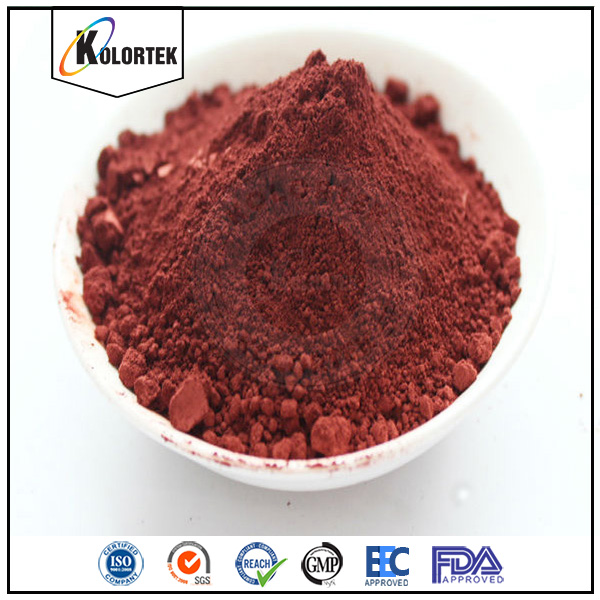 Kolortek high quality red iron oxide, red matte pigment powder