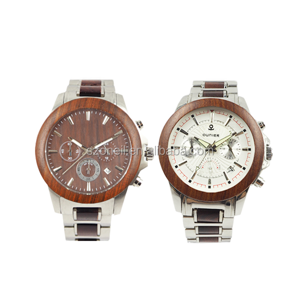 Shenzhen Oneil wood watches top high quality quartz watches for men