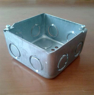 Jiaxing Brothers hot sale 4x4 Square METAL BOX ELECTRICAL INSTALLATION