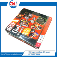 Large metal Tin Box for Children's Game Card Tin Box/Color children playing card game storage gift tin can/Packing box