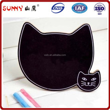 bulletin board, cat shaped bulletin/ black board