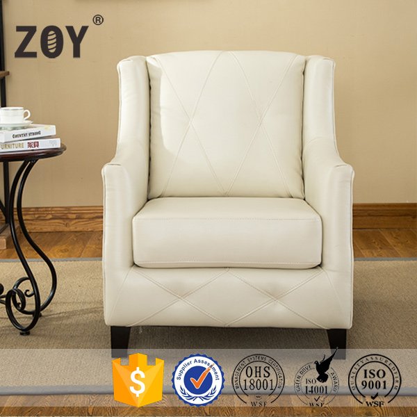 Nice Design Modern Leather single Small Sofa Accent Chair ZOY 6011A