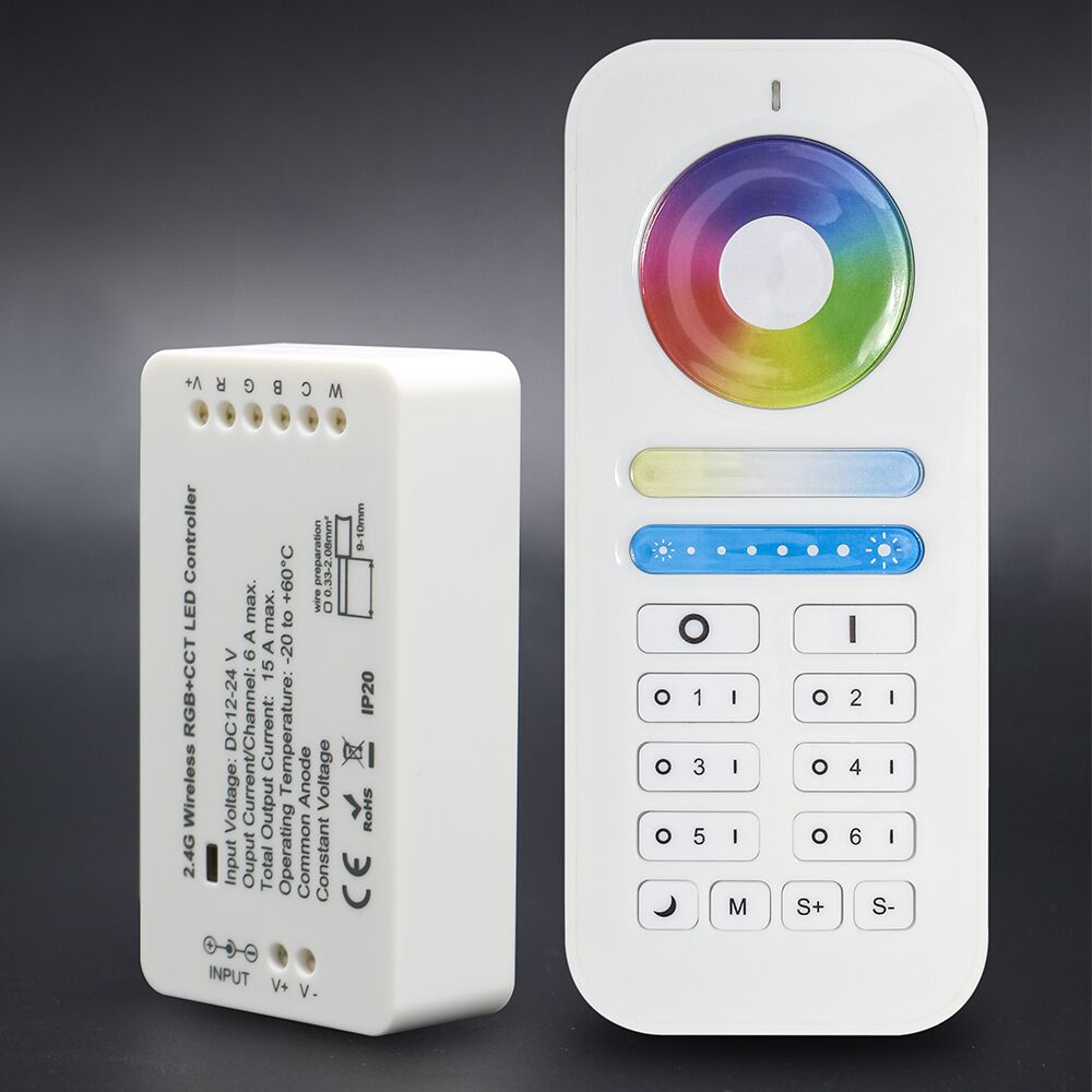 ZigBee Light Link Compatible DC12-24V 2.4G RF RGB/RGBW LED Strip Remote Controller 4/6/8 Zone Smart Control Limitless Distance
