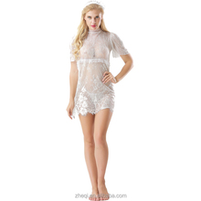 Latest woman Sexy teddy dress transparent sexy night dress for woman