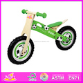 Wholesale useful green wooden walking balance bike for baby's balance training W16C002