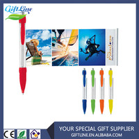 Hot Sell Translucent Promotional Retractable Flag Pen Advertising Banner Pens