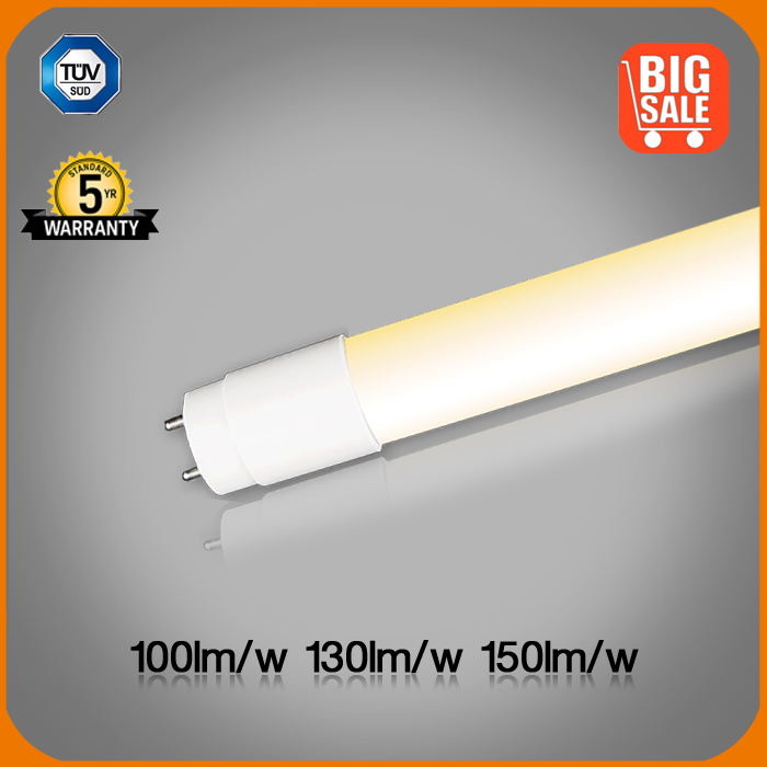 Sale! 100-150lm/w T8 led tube 1500mm TUV approved with LED starter Warehouse in Europe