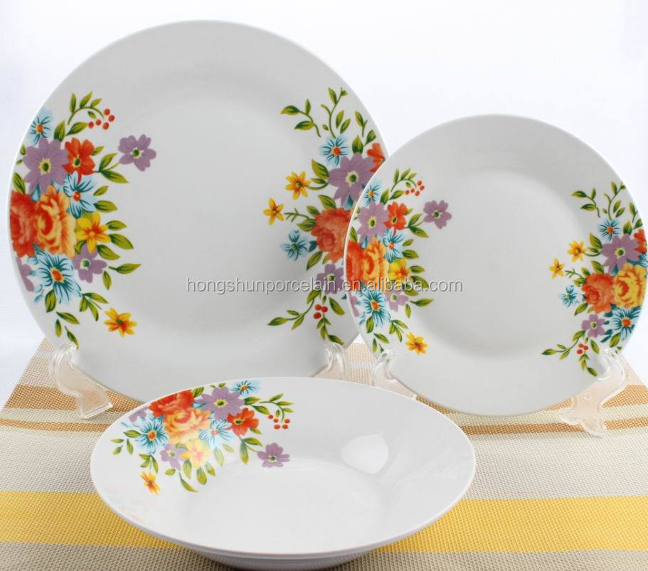porcelain country style decorated wedding crockery , crockery cutlery